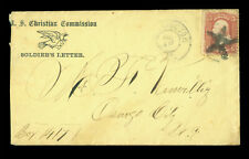 "US 1865 CIVIL WAR - Soldier's Letter - US Christian Commission ""boy 1417"" handwr"