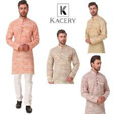 Men's Indian Cotton Khadi Kurta Pajama Casual Wear AN560
