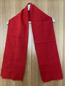 Simple Childrens Red Unisex Scarf