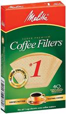 Melitta Super Premium #1 Cone Paper Coffee Filters, Natural Brown, 40 Count