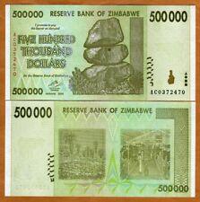 Zimbabwe, 500,000 Dollars 2008, AC-Prefix, P-74, UNC