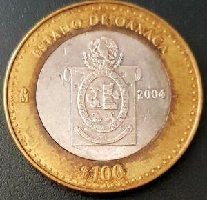 2004 MEXICO 100 PESOS SILVER BIMETALLIC Serie 1 ESTADO DE OAXACA Nice!!!