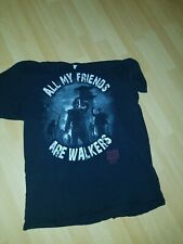 """Delta Pro Weight """"All My Friends Are Walkers"""" L Black T-Shirt Cotton Pre-Owned"""