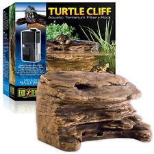Exo Terra Turtle Cliff Aquatic Med Filter System & Basking Rock Terrarium Tank