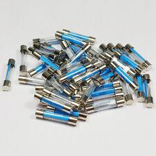 25 X 50 Amp Fusible de Vidrio 6x30mm 50 A Amperios rápido Blow Fusibles-a 6 X 30 mm