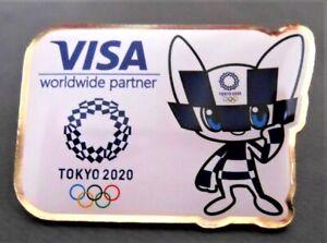 TOKYO 2020 OLYMPIC PINS - VISA SPONSOR PIN ———— .