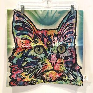 "NEW Nunubee Multi-Color Cat Fashion Home Cushion Pillow Cover 17""x17"""