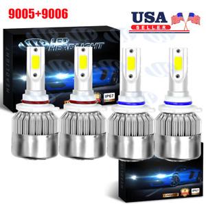 4x 9005 9006 LED Headlight Kit HB3 9145 9140 Fog Light 1400W 6000K Power Bulbs