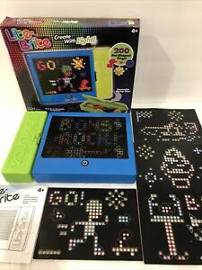 Lite Brite Reusable Templates Fun Shaped Pegs Magic Screen Removable Tray