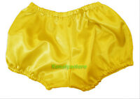 Yellow Satin Pants Pantaloons Sissy Maid Adult Baby Fits With Underwear