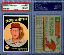 1959 TOPPS #338 GEORGE SPARKY ANDERSON ROOKIE PSA AUTHENTIC ALTERED (8907)