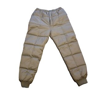 Gander Mountain Down-filled Pants Adult Size XL Vintage Tan