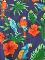 Vintage Styled By RJC Hawaiian Shirt Mens XL Floral Hawaii Aloha Tropical Birds