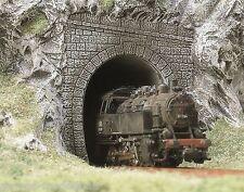 BUSCH 7025 H0, 2 Tunnelportale, Dampflok-Portale, 1-gleisig, Neu