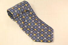Distinction Blue and Yellow Pattern Mens Tie