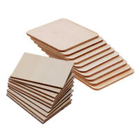 20pcs Wooden / Wood Square Rectangle Plaque Unfinished for Craft Woodworking