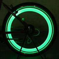 2Pcs Neon LED Reifen Auto Fahrrad Rad Licht Lampe Ventilkappe Ventil Leucht P5A1