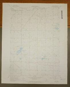 "Luncan, Minnesota Original Vintage 1967 USGS Topo Map 27"" x 22"""