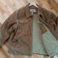 CABELAS Size 2XL Outfitter Series Sherpa Fleece Lined Corduroy Trucker Jacket