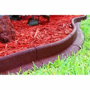 LOT 0F 5 VIGORO EcoBorder 4 ft. Red Rubber Landscape Edging