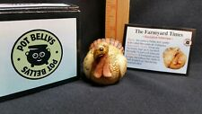 Harmony Kingdom Pot Bellys Perkie Ball in The Farmyard Times Nib Turkey