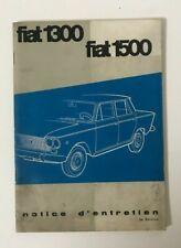 ► NOTICE ENTRETIEN : FIAT 1300 / FIAT 1500
