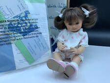 Gabriele Müller Porzellan Puppe 21 cm. Top Zustand