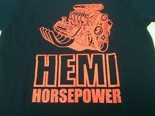 Hemi Horsepower V8 Drag Race Engine Hot Rod Power Boat T shirt Chrysler Mopar