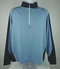 FootJoy FJ Golf Half Zip Pullover Blue Mens Sz L Nylon Spandex Long Sleeve