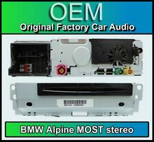 BMW CD player stereo, Alpine Most, BMW 6512 928028 01 radio headunit
