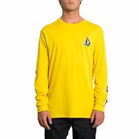 Volcom Family Stone Long Sleeve T-Shirt Tee BNWT Sulphur Yellow