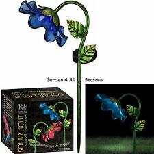 BLUE Mini BELL FLOWER Solar Light Garden Stake Creekwood Regal Art & Gift Boxed
