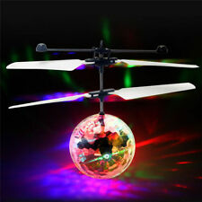 Flash Flying Ball Infrared Induction Colorful LED Disco RC Helicopter kids Toy