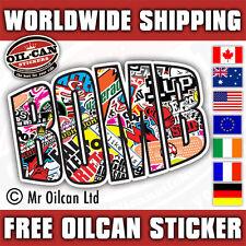 BOMB sticker bombing sticker euro jdm  150 x 100mm stickerbomb mr oilcan