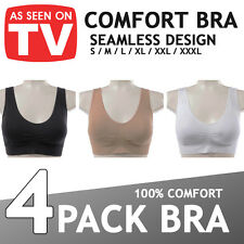 WOMENS SEAMLESS COMFORT BRA Comfy Shapewear Sports Stretch Crop Top Vest Support