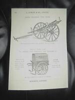 Vintage Corkscrew Images Copy Print L Lumley /& Co Minories London #609