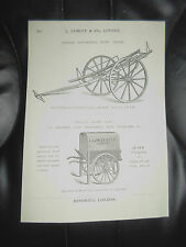 Vintage WINE TRUCK+HAND CART Images Copy Print L Lumley+Co Minories London #262