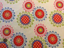 Michael Miller Ooh La La Les Fleurs Floral White Cotton Quilting Fabric FQ