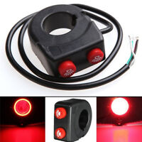 7/8'' Motorcycle Bike Handlebar On Off Button Head Spot Fog 'Light Switch ButtCR