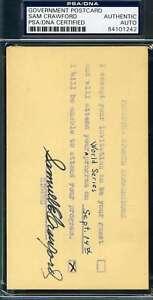 Wahoo Sam Crawford Psa Dna Coa Autograph 1953 Gpc Invitation Hand Signed