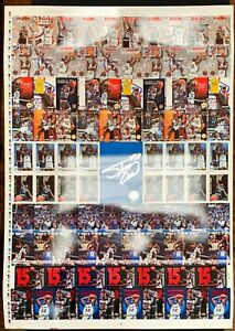Shaq Shaquille O'neal 1993 Skybox Hoops Uncut Rookie Sheet -poster