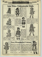 1932 PAPER AD Unbreakable Dolls Sitting Baby Negro Black Skating Composition