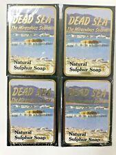 J Malki Dead Sea Jabón Natural de Azufre 90g 4 X Pack