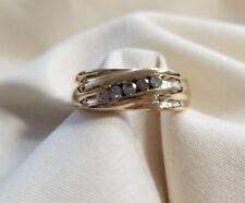 Mens 14k yellow gold Damond .15ct  diamond wedding band size 12