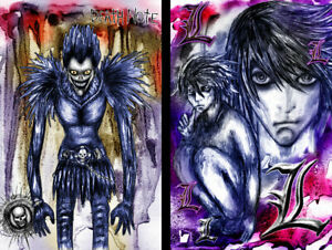 Death Note Ryuk L (2) Lot Anime Art 11 x 17 Quality Posters Manga Shinigami