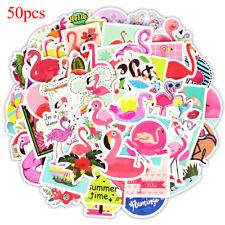 50 Pcs flamingos sticker cute anime decal stickers for children laptop suitcase-