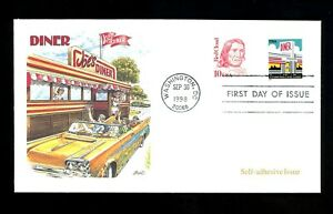 US FDC #3208A S/A Coil Fleetwood Washington DC Diner Red Cloud 9/30/1998