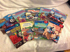 10 Thomas the Tank Engine Paperback Books:Little Engines,Track Stars,Fishing,Sch