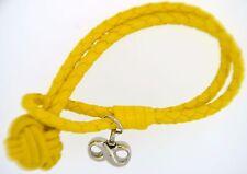Braided Yellow Bracelet With Infinity Pendant Cremation Jewelry Urn Keepsake