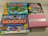 Monopoly Boutique - Littlest Pet Shop - Tropical Tycoon - U Build Board Game Lot